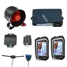 BANVIE Two 2 Way LCD пульт дистанционного запуска двигателя, Автомобильная сигнализация, система безопасности с ключом, центральный замок двери, анти вор, starline