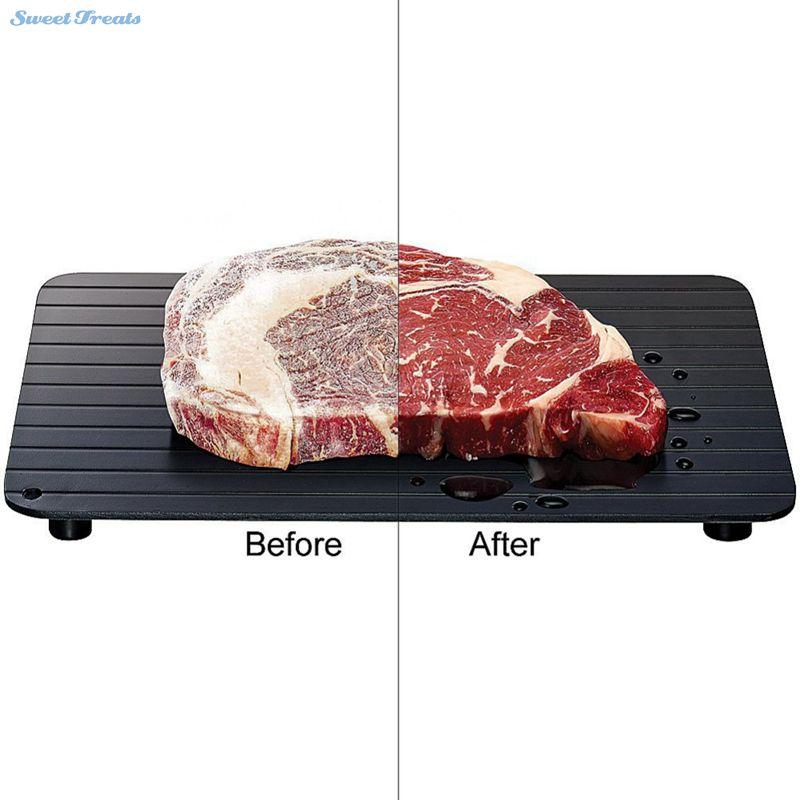 Sweettreats Veloce Sbrinamento Vassoio-Il Modo Più Sicuro per Sbrinamento a base di Carne o di Alimenti Surgelati In Modo Rapido Senza Energia Elettrica Scongelare Alimenti Surgelati