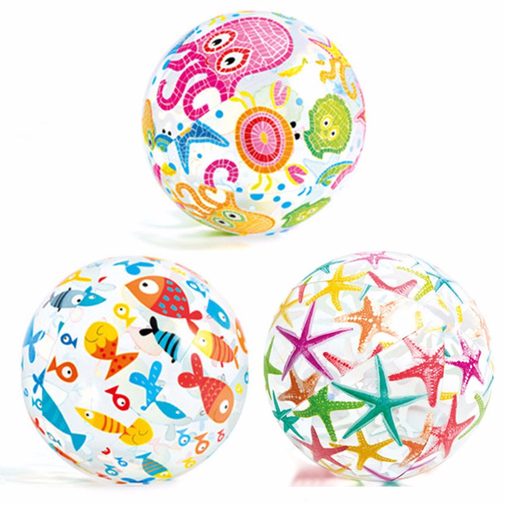 LumiParty Inflatable Beach Ball Kids Toys Sport Outdoor Water Game Swimming Pool Play Party Balloon - Color Random