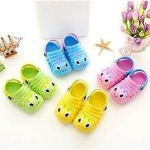 778689dad Летние пляжные шлепанцы для девочек и мальчиков; шлепанцы с милым  мультяшным принтом; обувь для новорожденных; водонепроницаемые.