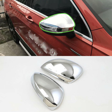 Car Accessories Exterior ABS Chrome Rearview Mirror Decoration Cover For Volkswagen Tiguan L 2016 Styling