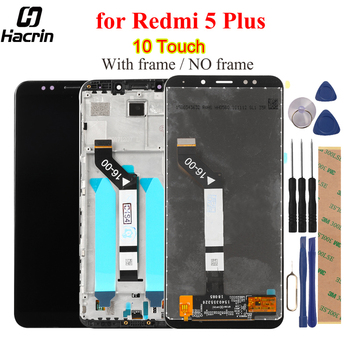 Per Xiaomi Redmi 5 Più Display LCD Touch Screen Con Telaio FHD 5.99