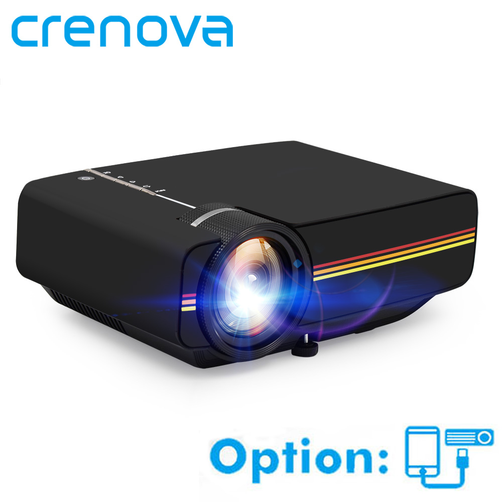 CRENOVA YG400 YG410 Video Projector For Home Cinema Movie Projector With USB HDMI VGA AV Wired Sync Display Proyector Beamer Проектор