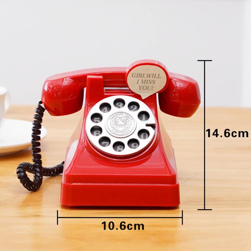 creative 3d phone money telephone coin box cartoon turntable digital