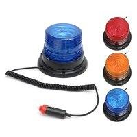 12V 10W LED Car Truck Magnetic Warning Light Flash Beacon Strobe Emergency Lamp Blue Yellow Red