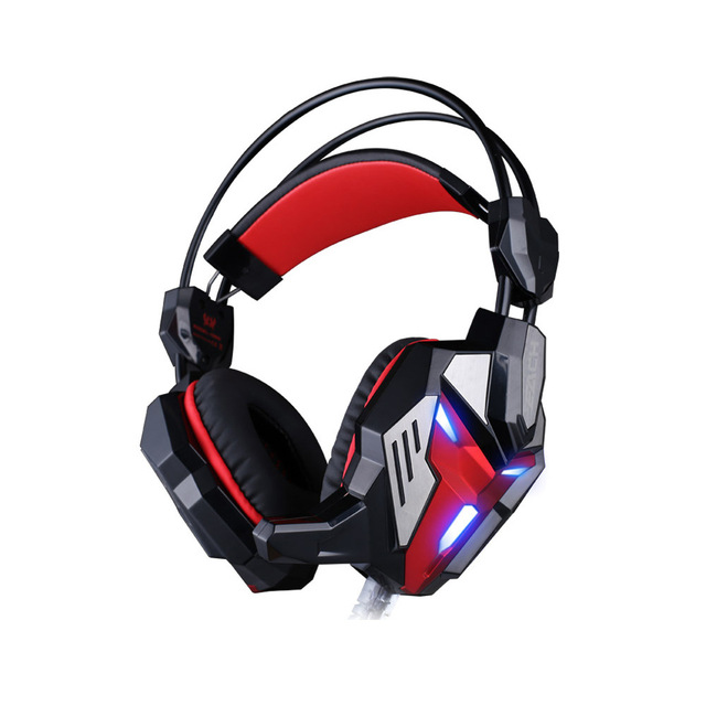 3.5mm Wired Professional Gaming Headset cf lol Hi-Fi Headphones Adjustable LED Light Earphones Stereo with Mic for PC Games
