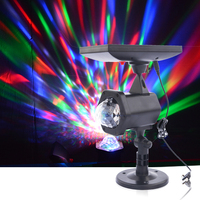 Solar Powered Rotating Crystal Magic Ball Led Stage Lamp USB Charge Party Lights Outdoor Garden Lawn Disco Laser Projector Light