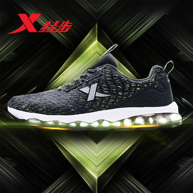 Xtep Новинка 2017 Профессиональный Для мужчин кроссовки Для мужчин спортивные кроссовки Открытый Спортивные кроссовки обувь Бесплатная доста...