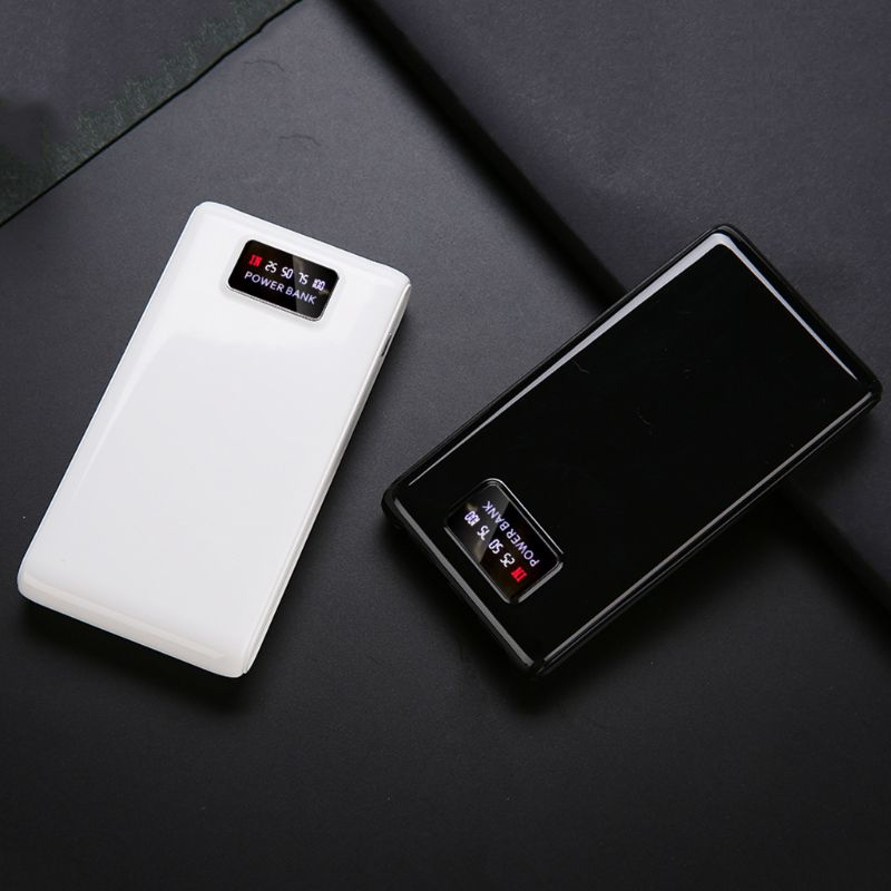 LED Display DIY 6x18650 Case Power Bank Shell Portable External Box Protector 5V 2A Type-C Micro Input