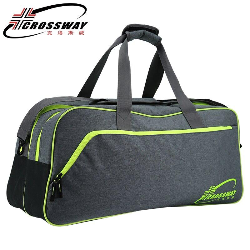CROSSWAY сумки сумка новый мяч мешок ракетки для бадминтона. сумки большой емкости волейбол обувь Баскетбол аксессуары рюкзак большой теннис р...
