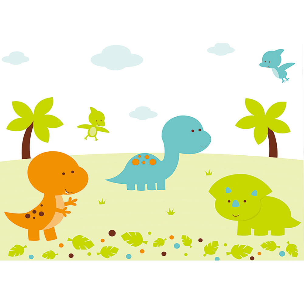 US $10 28 OFF Allenjoy Photophone Backdrop Dinosaur Cartoon Cute Trees Clouds Leaves Baby Newbron Pterosaur Plane Background