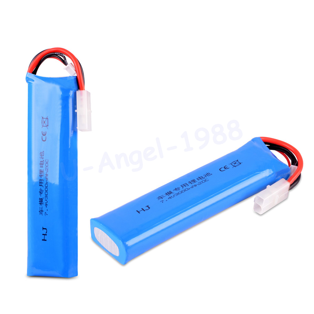 1pcs RC LiPo font b Battery b font 7 4V 3000mAh 20C Max 30C 2S 2Cells