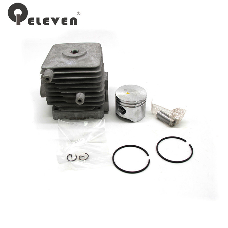 Qeleven Hedge Trimmer Chainsaw 34MM Cylinder Piston Kit Fit For HS81T/86R Chain Saw Parts Garden Tool Parts genuine piston 36mm for zenoah g3000 g3000t chainsaw free original chain saw cheap kolben parts p n 513 5870 01