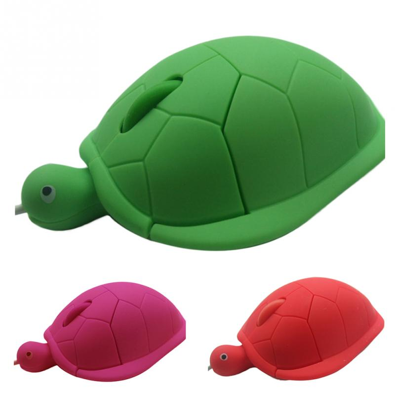Hot Sale Ergonomic Designed Funny Shaped Silicone Cute Turtle Mice USB 2.0 1200dpi 3D Wired Optical Mouse For PC Laptop