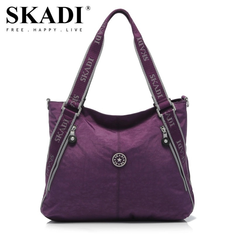SKADI New Women Shoulder Bags WaterProof Folded Messenger Nylon Bag Dumplings Travel Tote Folding Handbags Bolsas Hobos skadi s 152