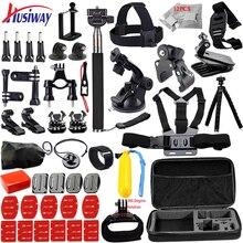 Husiway para todos Gopro Acessórios Set Peito Belt Cabeça Monte Correia para ir pro Herói 5 4 3 + 2/xiaomi yi ação câmera 12 H