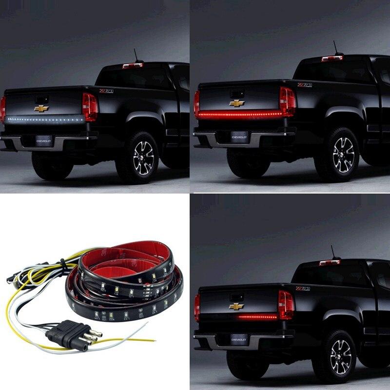 48 Truck SUV Tailgate Light Bar LED Red/White Reverse Stop Running Turn Signal Light Led Light Strip Car Accessories