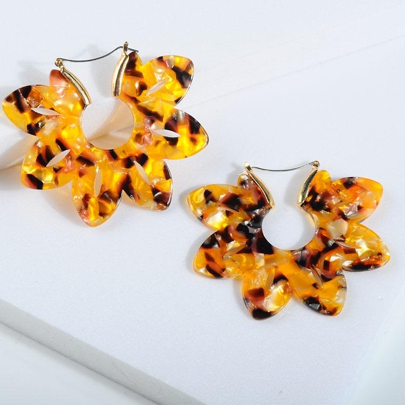 Женские леопардовые фигурные серьги ZA, висячие серьги черепаховой расцветки из акрилацетата, украшения для вечеринок - Окраска металла: 104222
