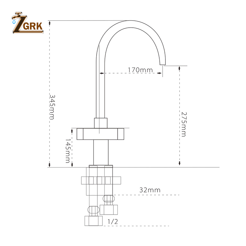 ZGRK Kitchen Faucets Deck Mount Mixer Tap 360 Degree Rotation with Water Purification Features Single Hole Crane For Kitchen in Kitchen Faucets from Home Improvement