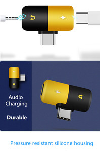 Image 3 - 헤드폰 잭 유형 c 어댑터 2 In 1 오디오 충전기 삼성 HTC 화웨이 분배기 오디오 변환기 Xiaomi Mi8 Chraging