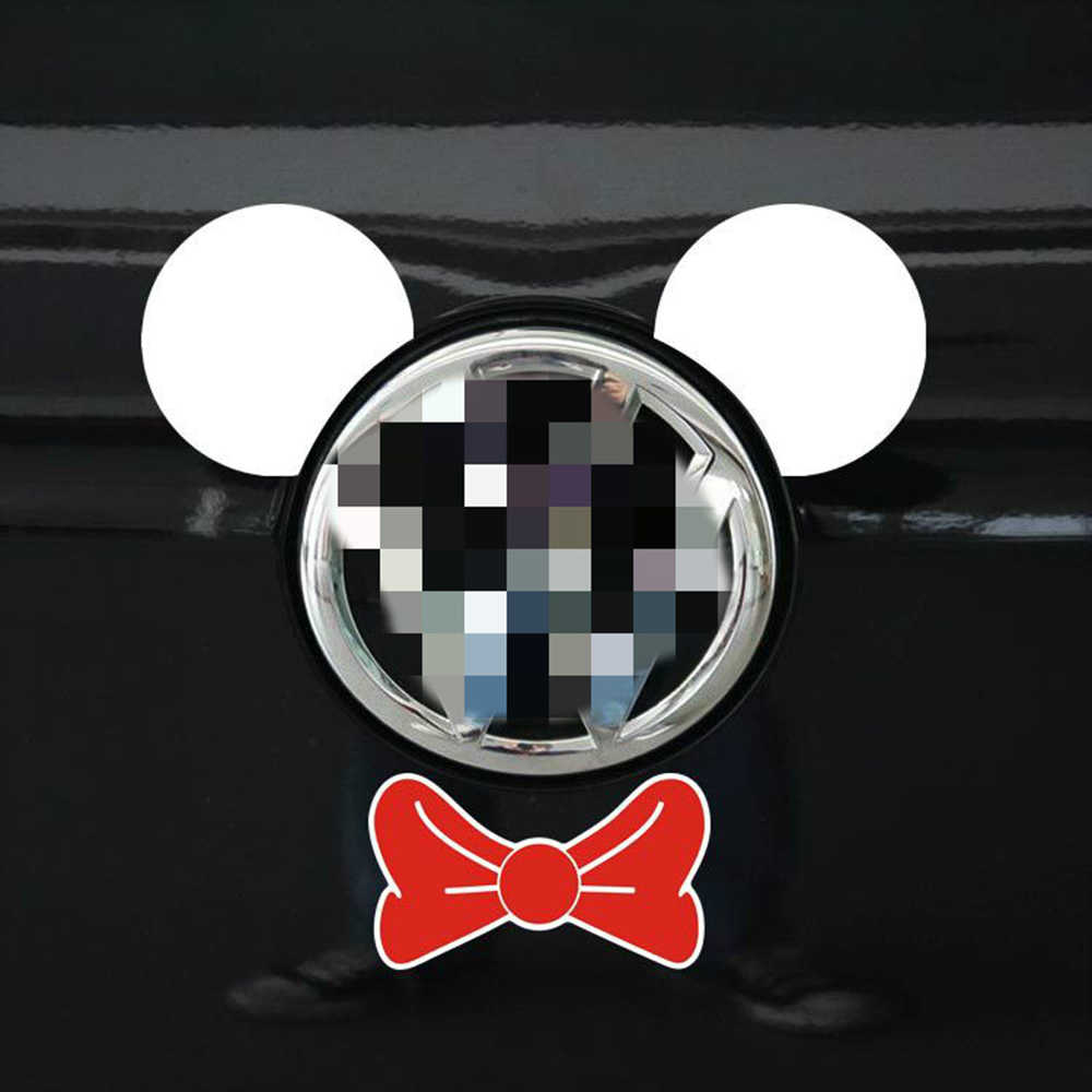 Cartoon car sticker mickey mouse ear and tie accessories funny decal for motorcycle volkswagen polo golf