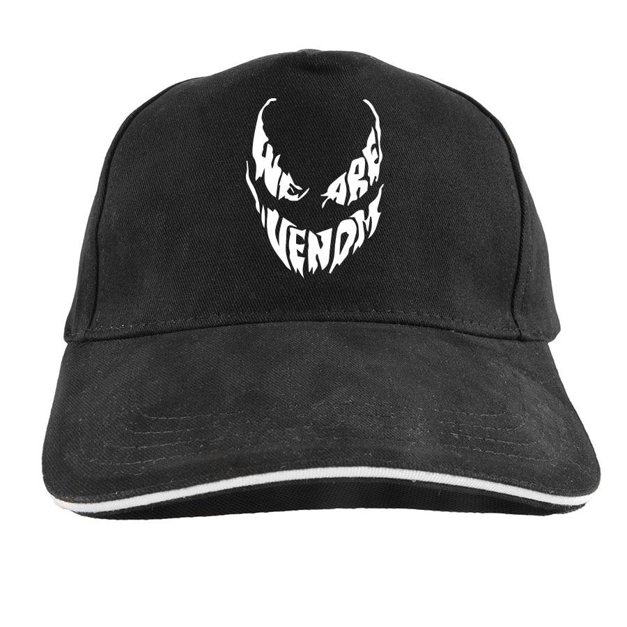 We Are Venom Hat Men Bad Hero Cool Anime Camiseta Homme Cotton Adjustable Originality Hipster   Baseball     Cap