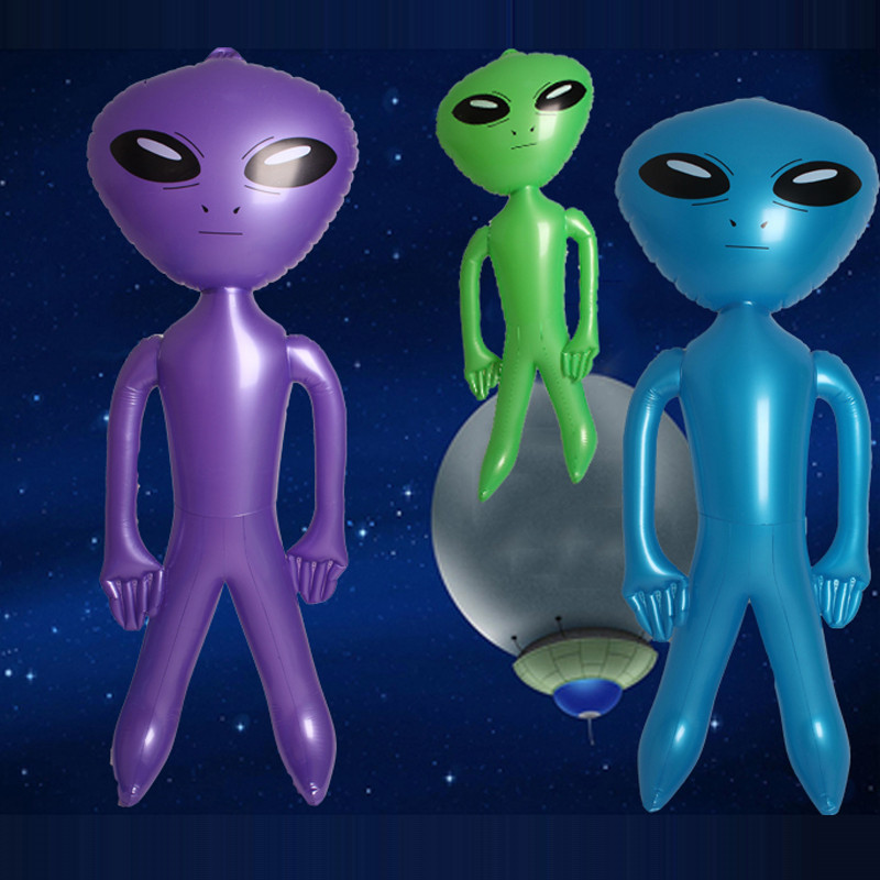 MarY 90cm / 160cm PVC Alien Inflatable Green Doll Adult Child Toy Halloween Horror Christmas Birthday Party Props