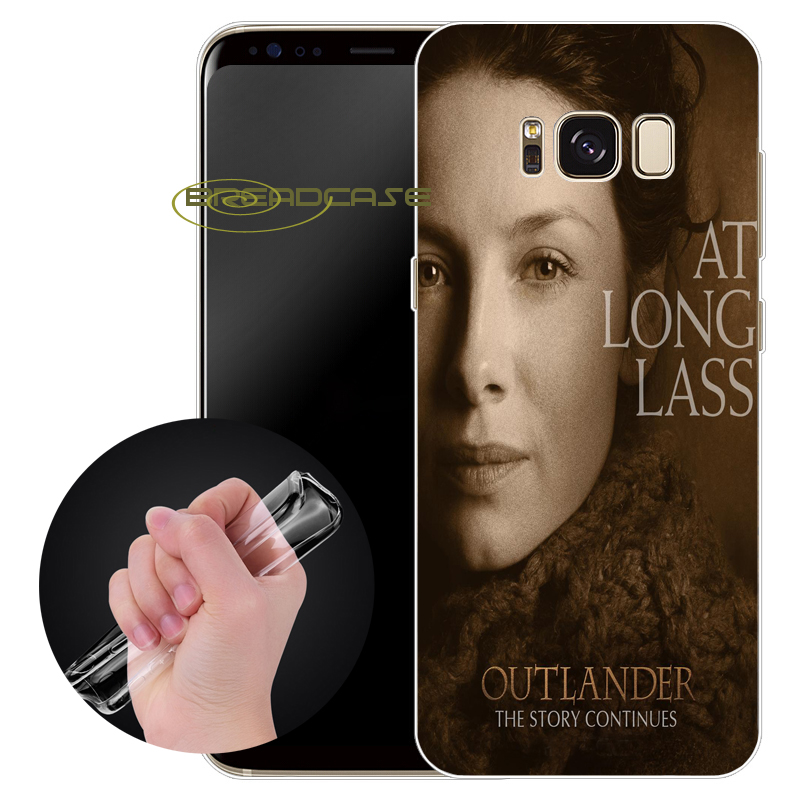 Capa OUTLANDER Claire Cases for Samsung Galaxy S9 S8 Plus S6 S7 Edge Plus Note 8 5 4 3 S3 S4 S5 Clear Soft TPU Silicone Cover.