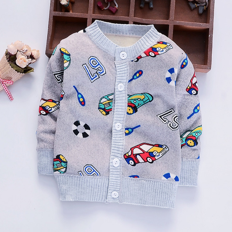 cd397d9a Newborn Baby Sweater For Boy Cotton Soft Baby Cardigan Long Sleeve V-Neck  Boy Sweater Autumn Knitted Cardigan Baby Boys Clothing