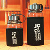 700 1000ml Glass Water Bottle With Tea Filter Infuser Portable Sport Water Bottle With Sleeve Leakproof