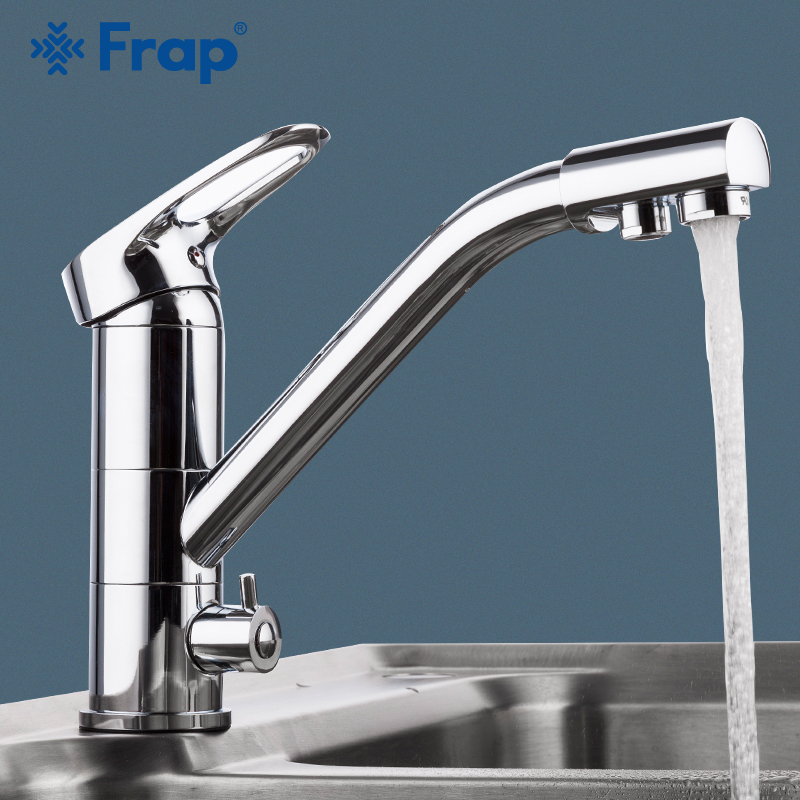 FRAP Kitchen Faucet 360 rotation modern kitchen sink faucet mixer taps faucet saving water chrome plated