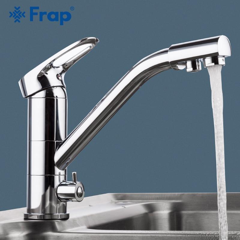 Robinet de cuisine FRAP 360 rotation moderne évier de cuisine robinet mitigeur robinet économie d'eau chrome plaqué pont monté robinet