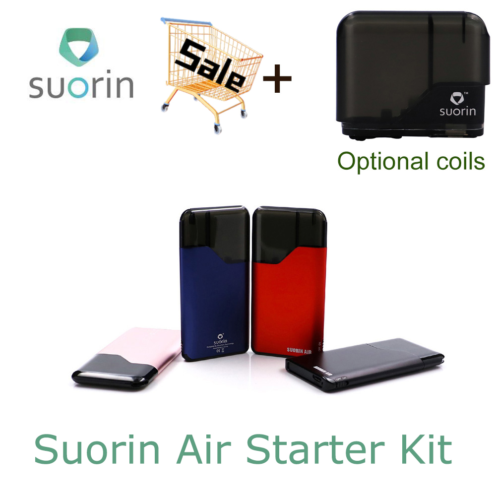 Original Suorin Air Starter Kit 400mah Built In Battery 2ml Cartridge Portable Vape New Version Suorin Electronic Cigarette