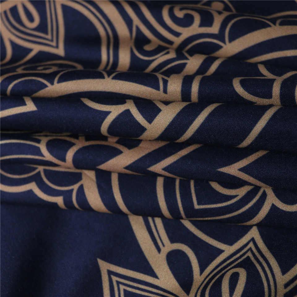 Mandala Parures linge de Lit 3 pièces Housse de couette Étoile Lune Ensembles De Literie Reine/Roi Housse de Couette Douce Avec Taie D'oreiller 3d Drap De Lit Ensemble