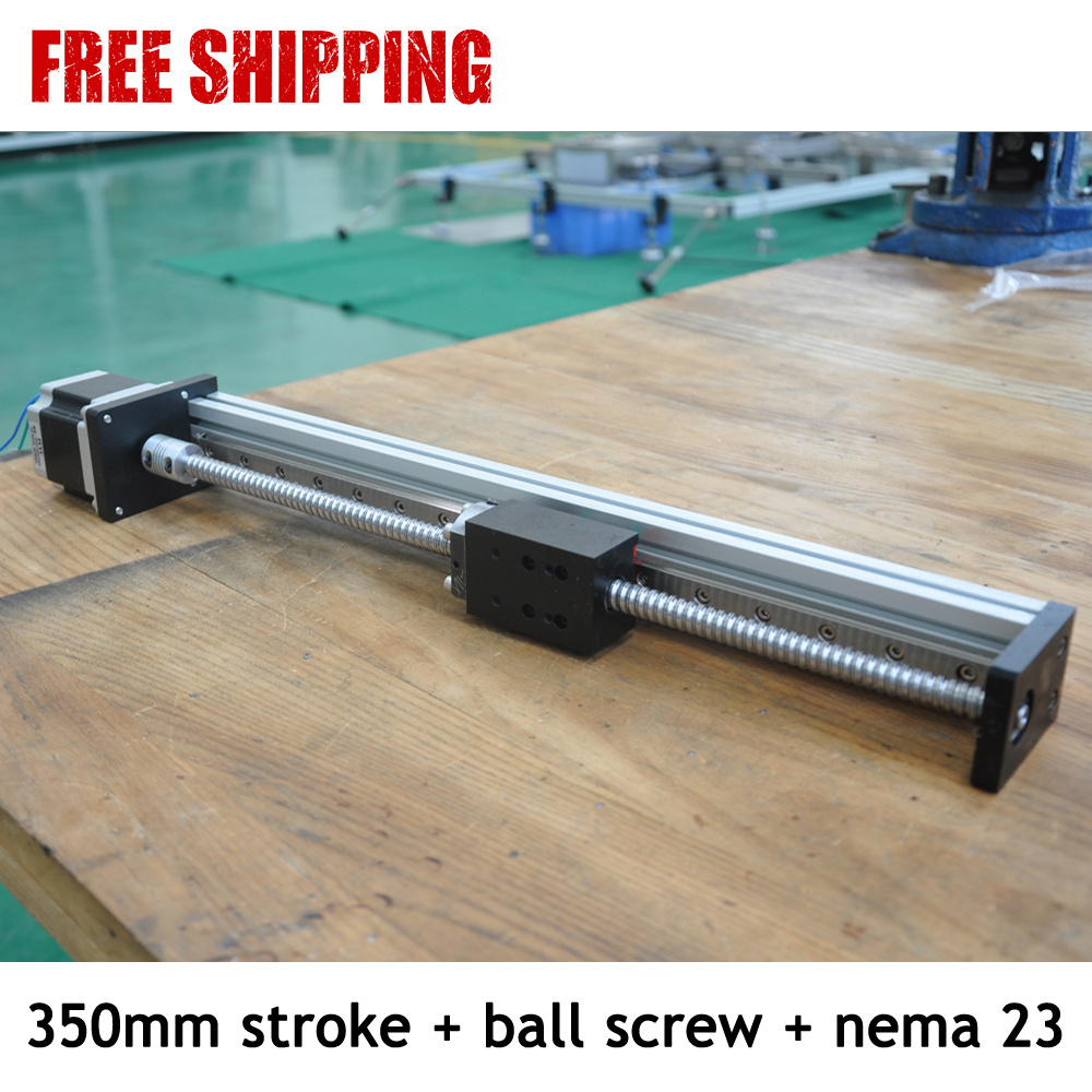 Free shipping 350mm effective length ball screw linear actuator slide system from orginal factory rakesh singh effective customer orientation in salespeople evidences from india