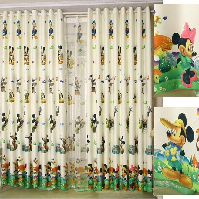 Cartoon curtain children bedroom curtains mickey donald for Tende topolino