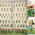 cartoon curtain children bedroom curtains Mickey & Donald Minnie design cloth curtain or voile curtain