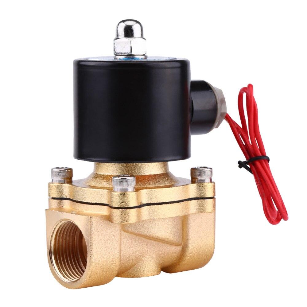 Heimwerker Neue Dc 12 V 1/2 normale Geschlossen Elektromagnetventil Für Wasser Luft Brennstoffe Gas Zink-legierung Körper Ventil