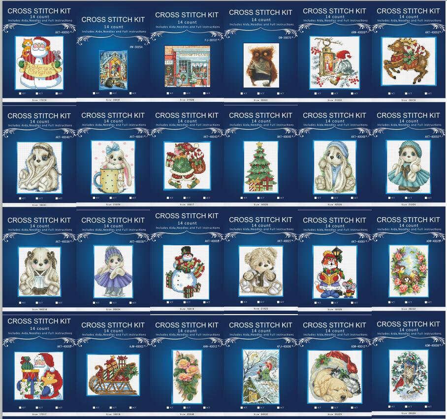 Point de croix lapin broderie point de croix kits couture pleine ère 14CT broderie maison décoration accessoires moins cher 1