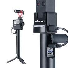 Ulanzi punho para câmera de ação BG 2 6800mah, câmera universal de bolso para gopro 7 6 5 osmo action osmo aperto de energia