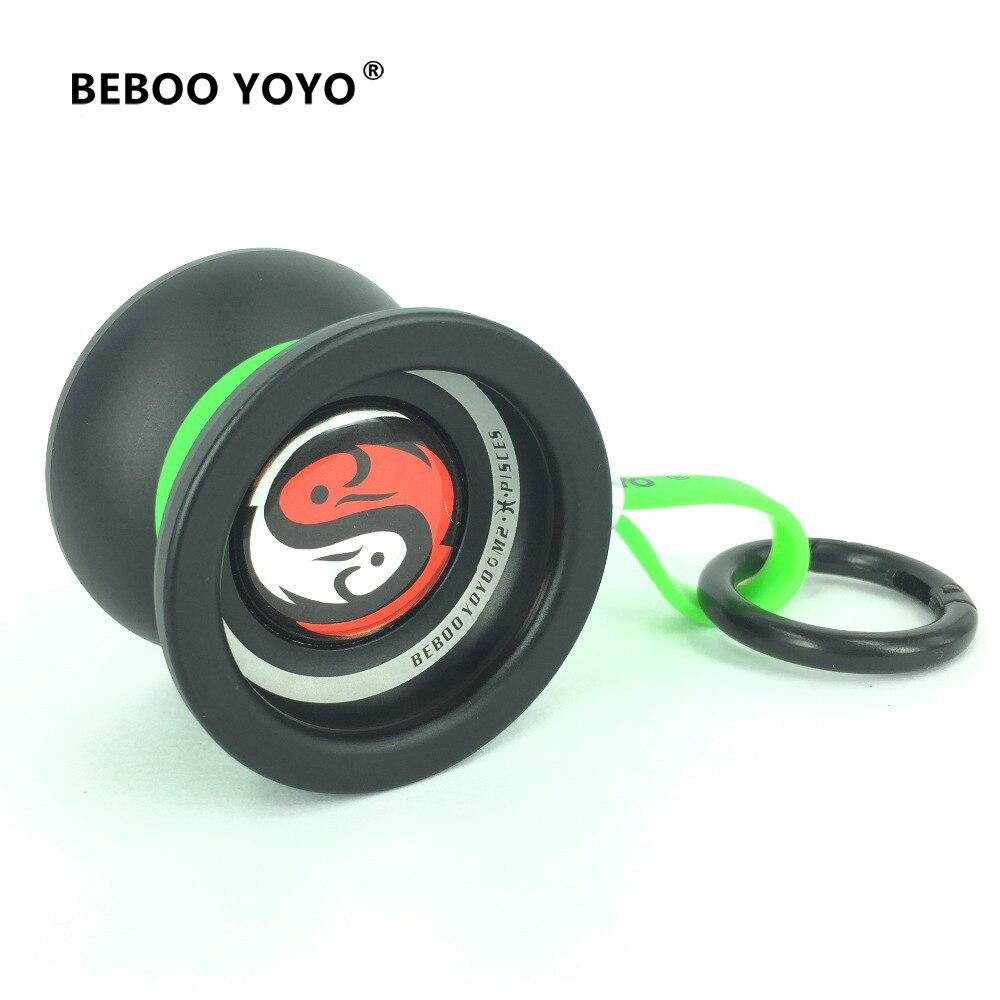 BEBOO YOYO profesional Yoyo M2 Pisce de aleación de aluminio yo Yo yo de yo-Yo + guante 3 cuerdas Constellation12 juguete clásico pellet Diabolo pellet cuentas regalo
