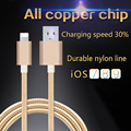 10pcs/lot USB Data Charger Cable Nylon Braided Wire Metal Plug Micro USB Cable for iPhone 6 6s Plus 5s 5 iPad mini