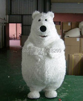 Талисмана жира белый медведь костюм талисмана необычные платья пользовательские фантазии косплей костюм тема mascotte карнавальный костюм ко