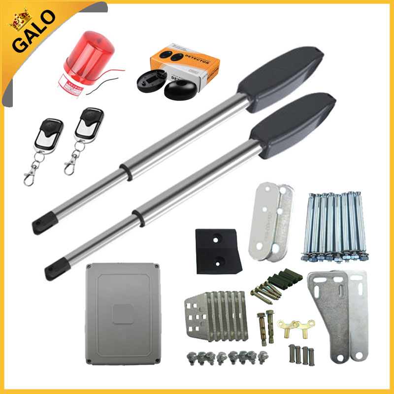 galo Electric gates / Electric Swing Gate Opener operators kit with remote control , 1 pair of photocell, flash light Optional