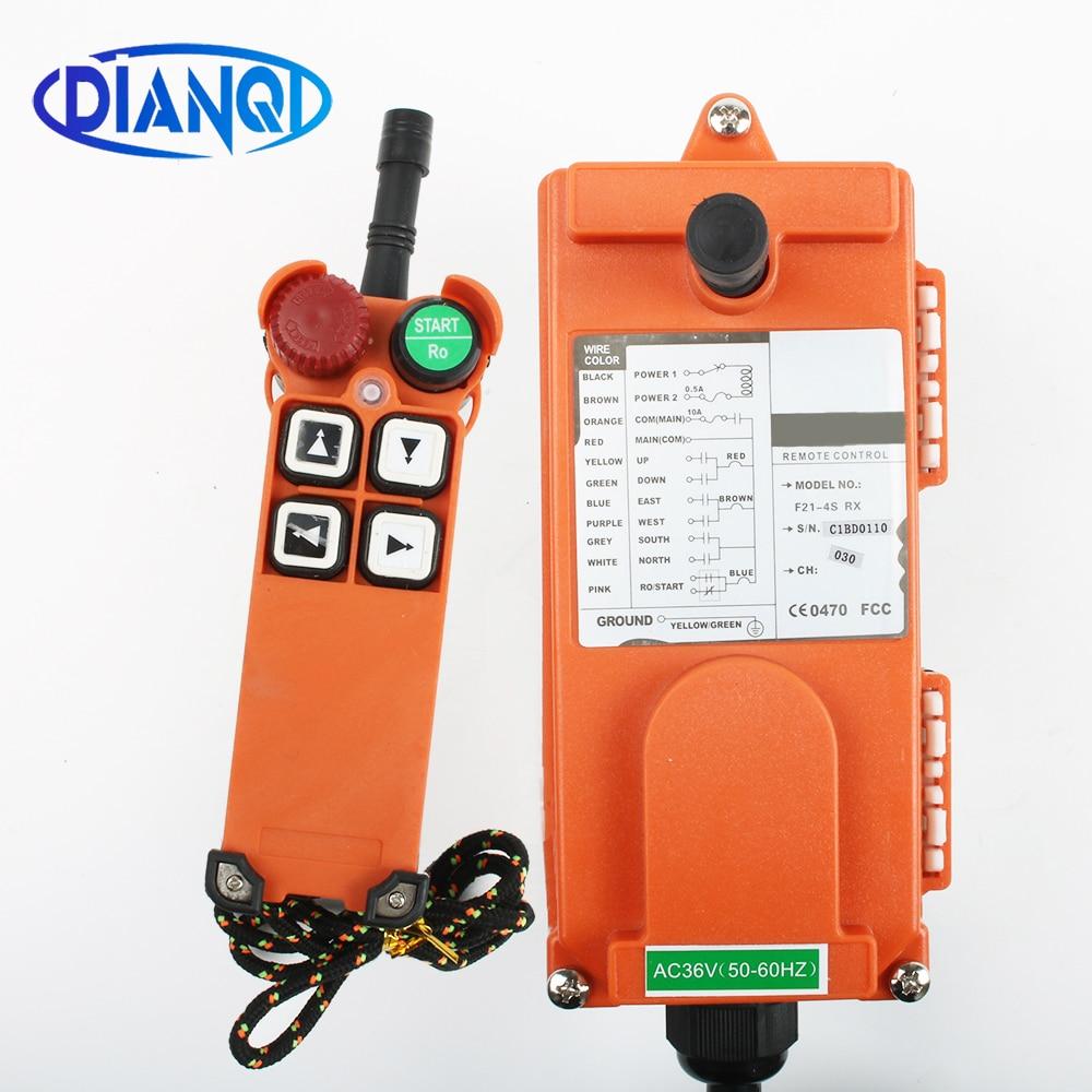 DIANQI F21-4S 12 V 24 V 220 V 380 V industriel sans fil Radio télécommande commutateur pour grue 1 récepteur + 1 émetteur