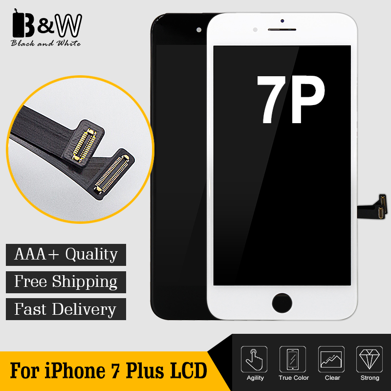 10pcs lot China Alibaba Black White Display Pantalla Clone For iPhone 7 Plus LCD Screen with