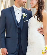 Bespoke Formal Men's Wear Groom Wedding Tuxedos Groomsmen Best Men Party Suits  Two Buttons ( Jacket+Pants+Vest +Bow Ties )