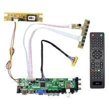HD MI USB VGA AV ATV DTV placa controladora LCD trabajo para 18,4 pulgadas 1920x1080 2 de retroiluminación CCFL 30PIN LVDS panel LTN184HT03 N184H4