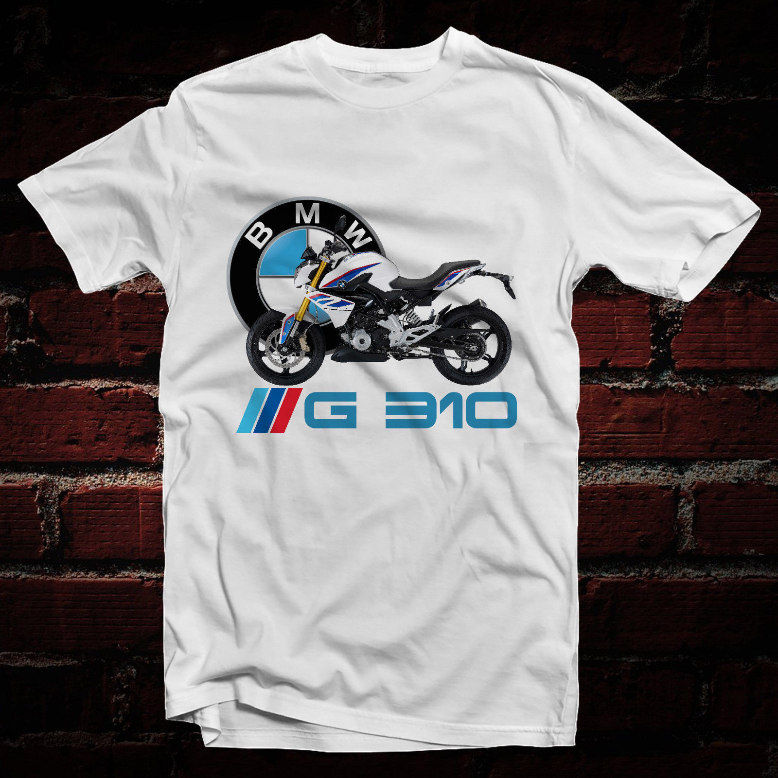 2018 New Casual Cool Tee Shirt 2018 Germany Motorcycle G 310 GS R1200GS M SERIES LOGO WHITE T-SHIRTS ALL SIZE Hot Sale T-shirt