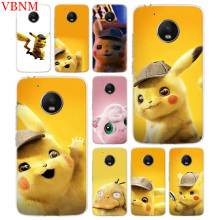 Pikachue Movie Trend Accessories Phone Case For Motorola Moto G7 G6 G5S G5 E4 Plus G4 E5 Play Fit Pattern Customized Coque Cover